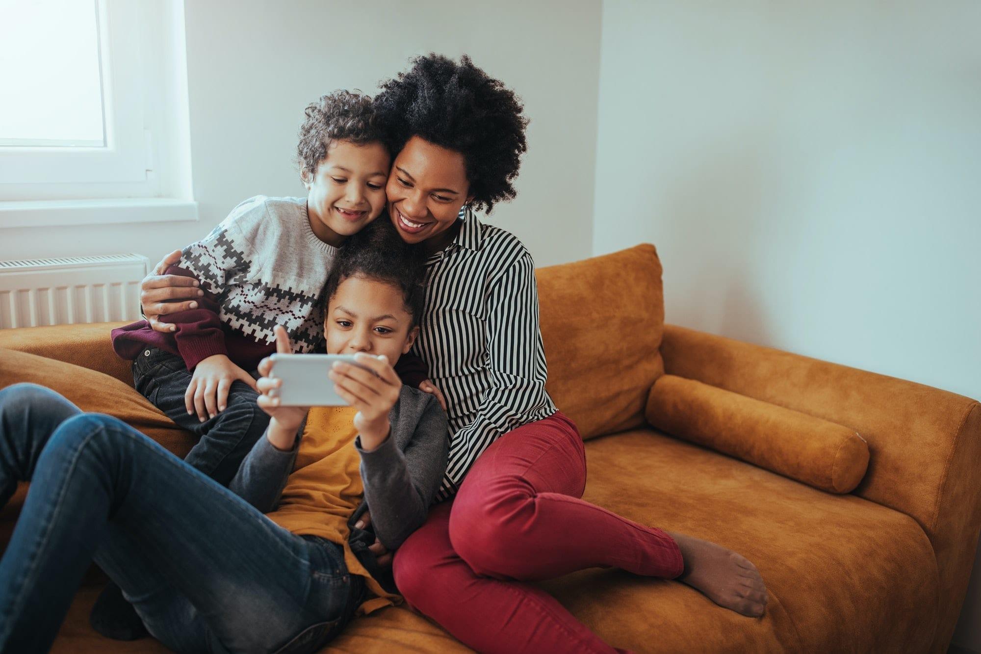 Enjoying their digital toy!